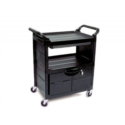 Rubbermaid Utility Cartwith Lockable Doors